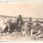 Degoladenses em passeio na praia de Matosinhos anos 50