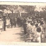 Festa de inauguração das fontes chegada das entidades oficiais na ponte