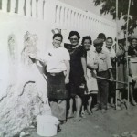 Degoladenses, após 25 de Abril, unidos pintando muros